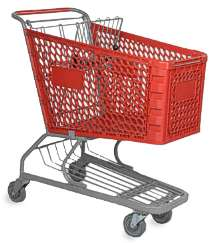 Regular plastic shopping cart