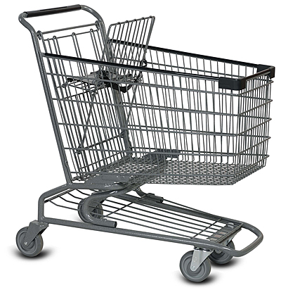 Medium metal grocery cart