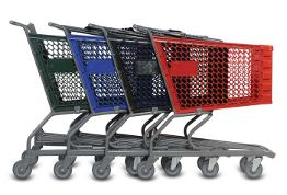 Picture of nested plastic shopping carts